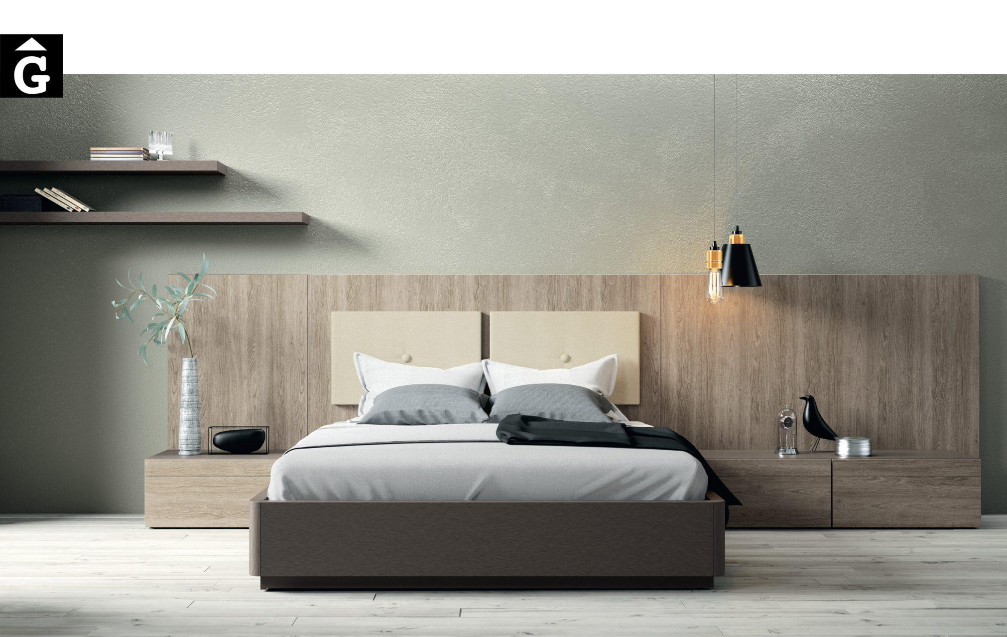 Liso Nogal Habitació llit gran Lagrama