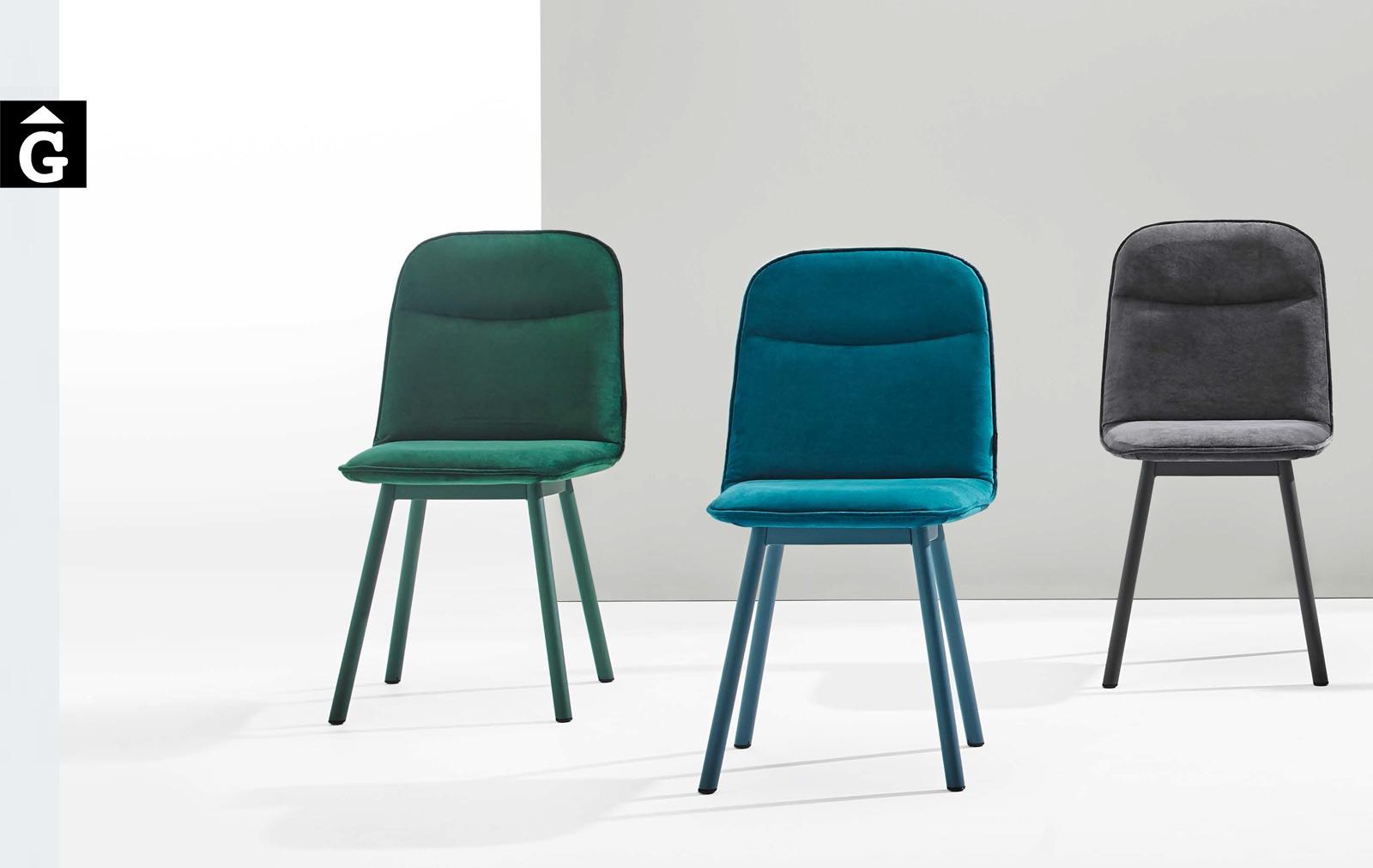 Köln cadira pota metall 3 color blau mobliberica per mobles Gifreu Porqueres Girona Catalunya Taules Cadires Sillons Butaques-Recovered