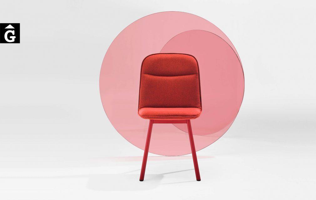 Köln vermella cadira imatge mobliberica per mobles Gifreu Porqueres Girona Catalunya Taules Cadires Sillons Butaques-Recovered