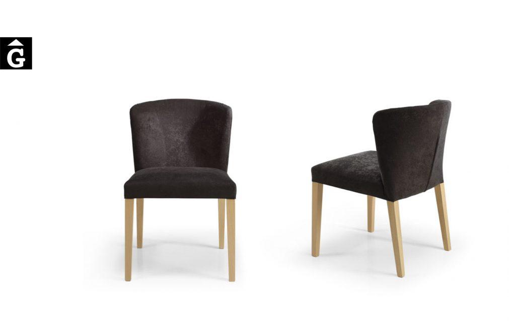 Retro cadira imatge principal darera davant negra Doos by mobles Gifreu taules i cadires alta qualitat