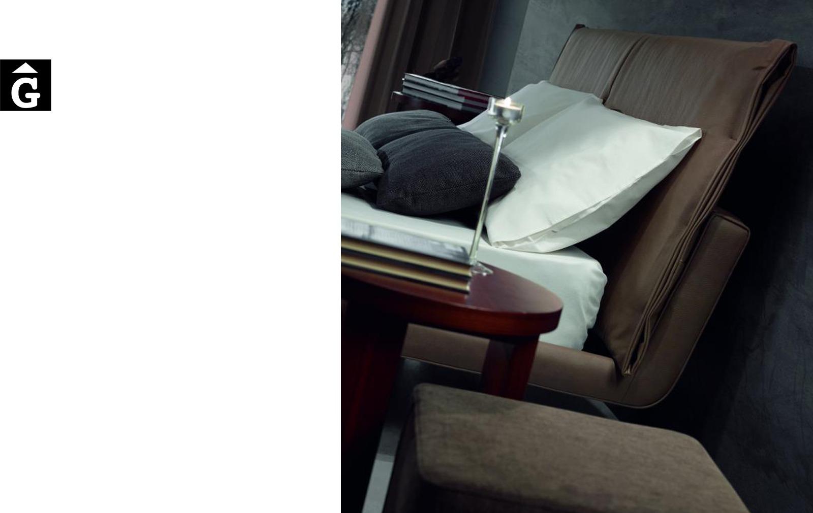 Rho Llit entapissat lateral detall Moradillo llit entapissats per mobles Gifreu