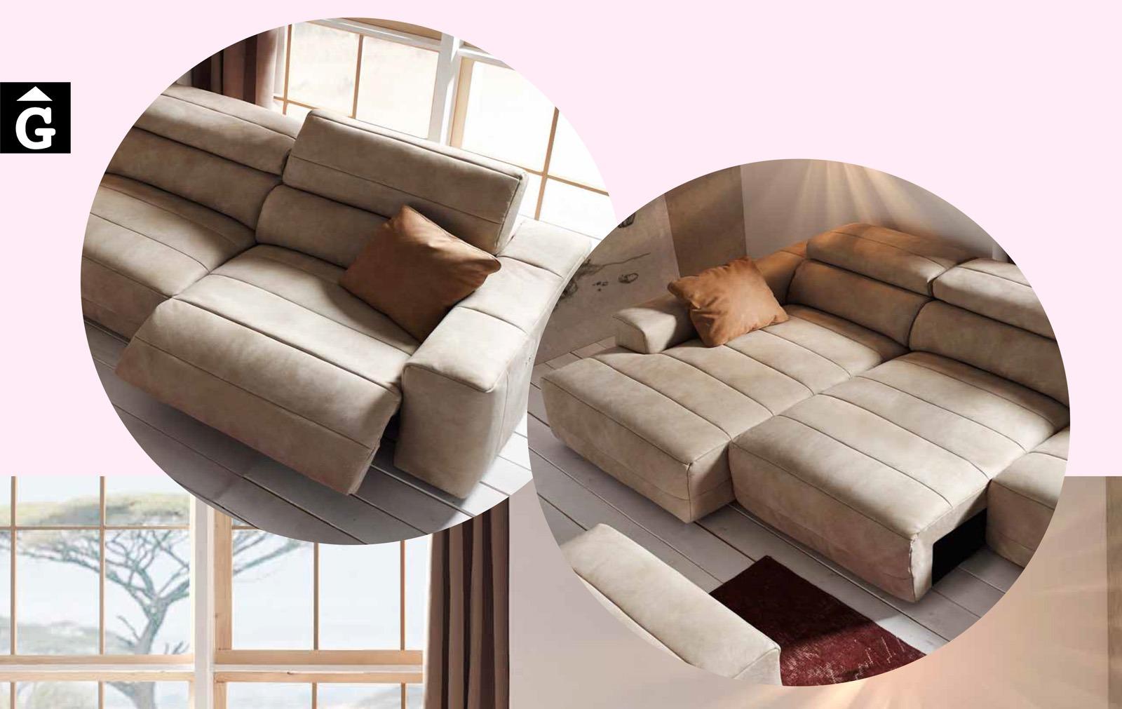 Yaiza Sofa relax o lliscant Pedro Ortiz tapisseria by mobles Gifreu sofas relax