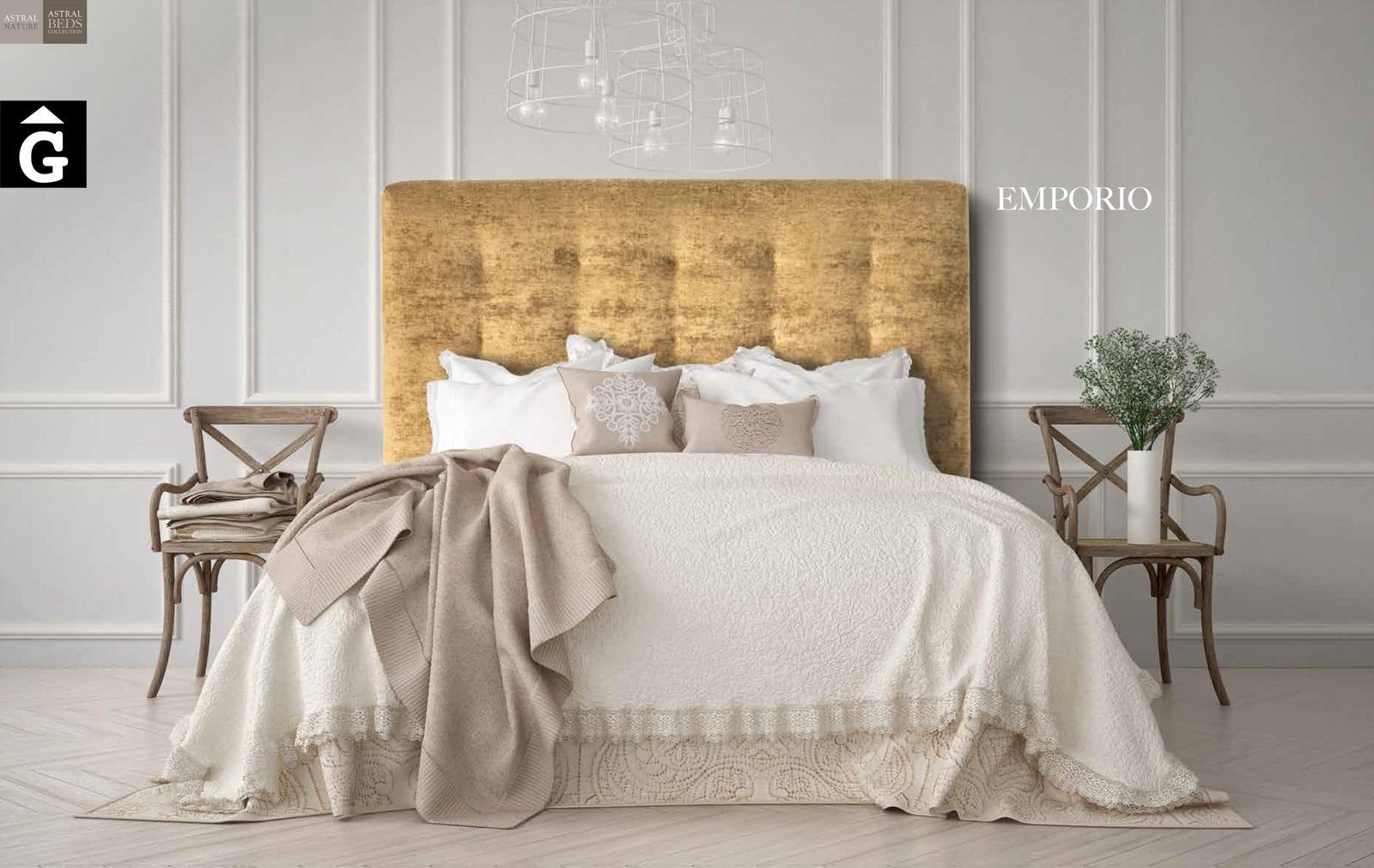 Emporio llit. Beds Astral Nature descans qualitat natural i salut junts per mobles Gifreu