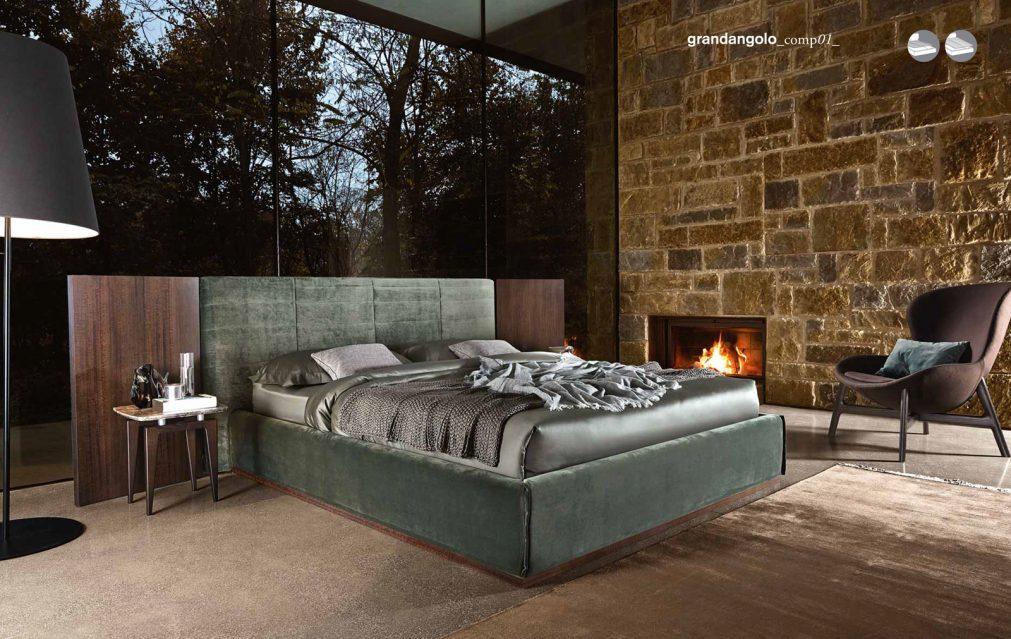 Grandanlogo llit entapissat - Ditre Italia llits entapissats disseny i qualitat alta by mobles Gifreu