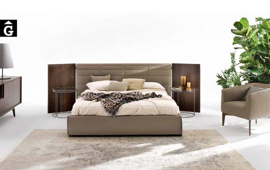 33 Grandangolo llit entapissat i panels fusta laterals - Ditre Italia llits entapissats disseny i qualitat alta by mobles Gifreu