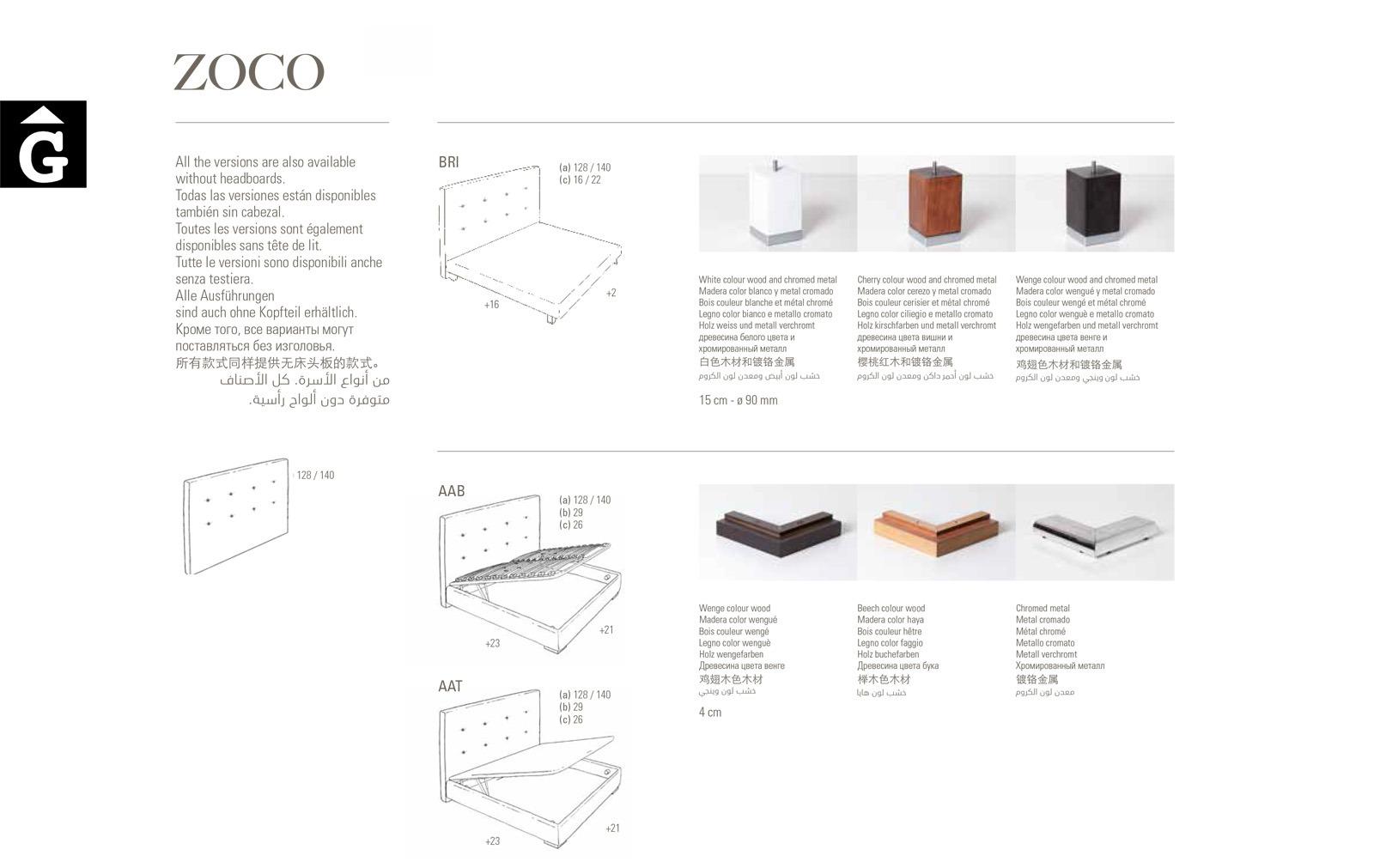 Zoco llit entapissat tecnic Beds Astral Nature descans qualitat natural i salut junts per mobles Gifreu