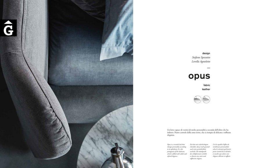 Opus detall capçal - Ditre Italia llits entapissats disseny i qualitat alta by mobles Gifreu