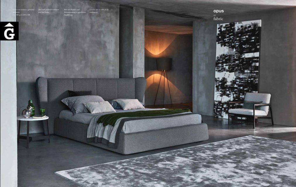 Opus llit entapissat oreller imatge general - Ditre Italia llits entapissats disseny i qualitat alta by mobles Gifreu