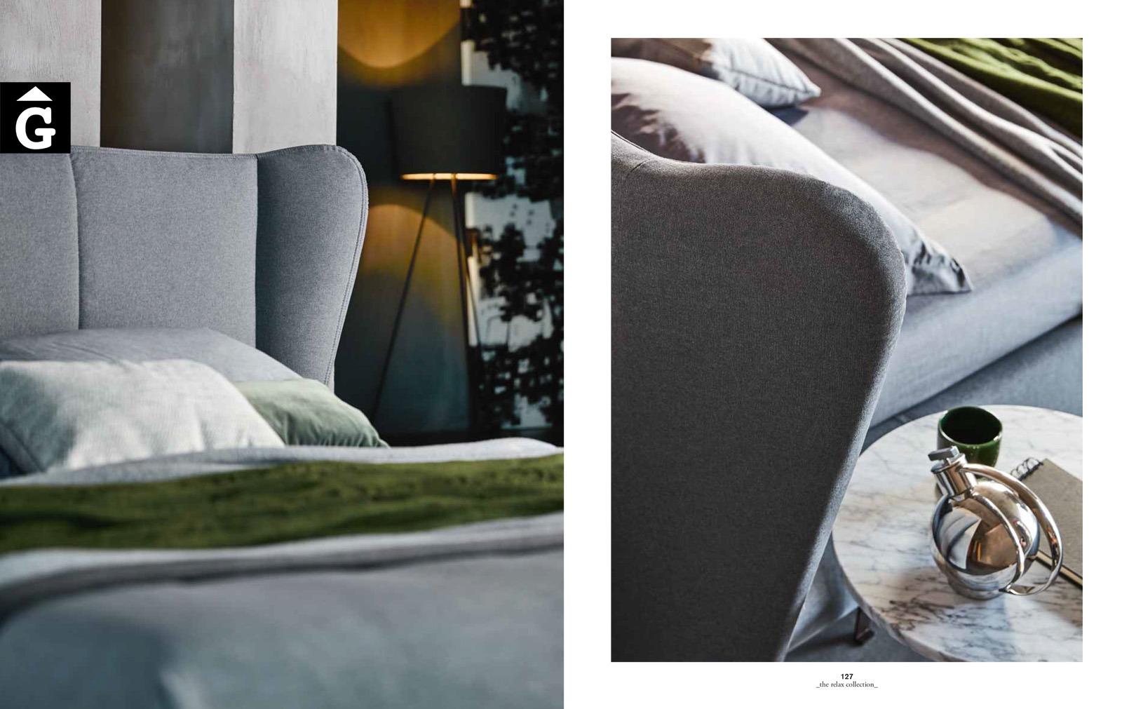 Opus detalls – Ditre Italia llits entapissats disseny i qualitat alta by mobles Gifreu