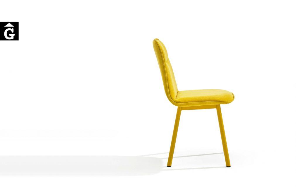 Koln cadira groga16 mobliberica per mobles Gifreu Porqueres Girona Catalunya Taules Cadires Sillons Butaques-Recovered