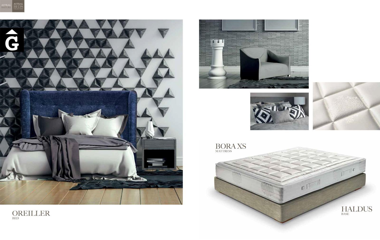 Oreiller llit entapissat ambient Beds Astral Nature descans qualitat natural i salut junts per mobles Gifreu