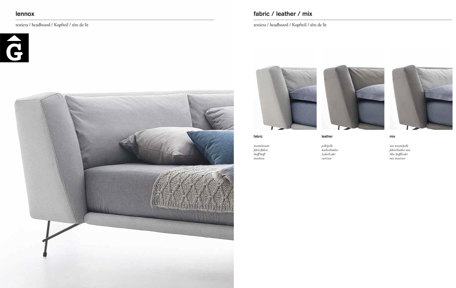 10 Lennox detall acabats- Ditre Italia llits entapissats disseny i qualitat alta by mobles Gifreu