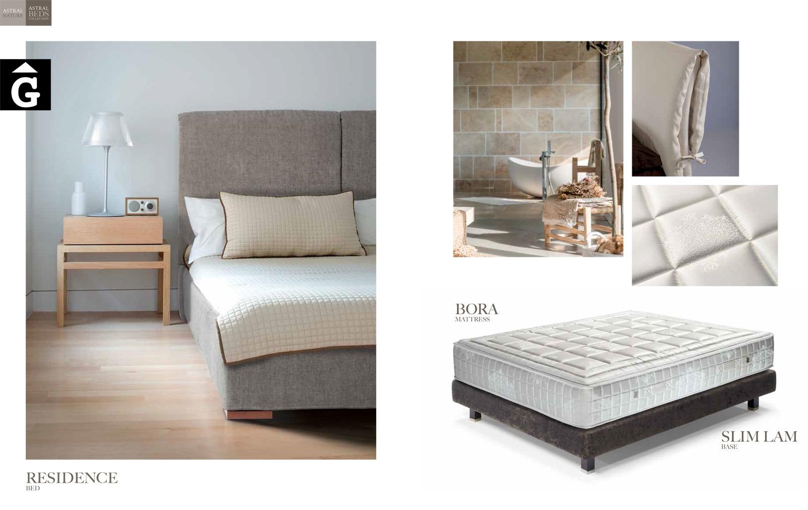 Residence detalls Beds Astral Nature descans qualitat natural i salut junts per mobles Gifreu