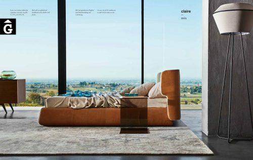 Claire llit entapissat general - Ditre Italia llits entapissats disseny i qualitat alta by mobles Gifreu