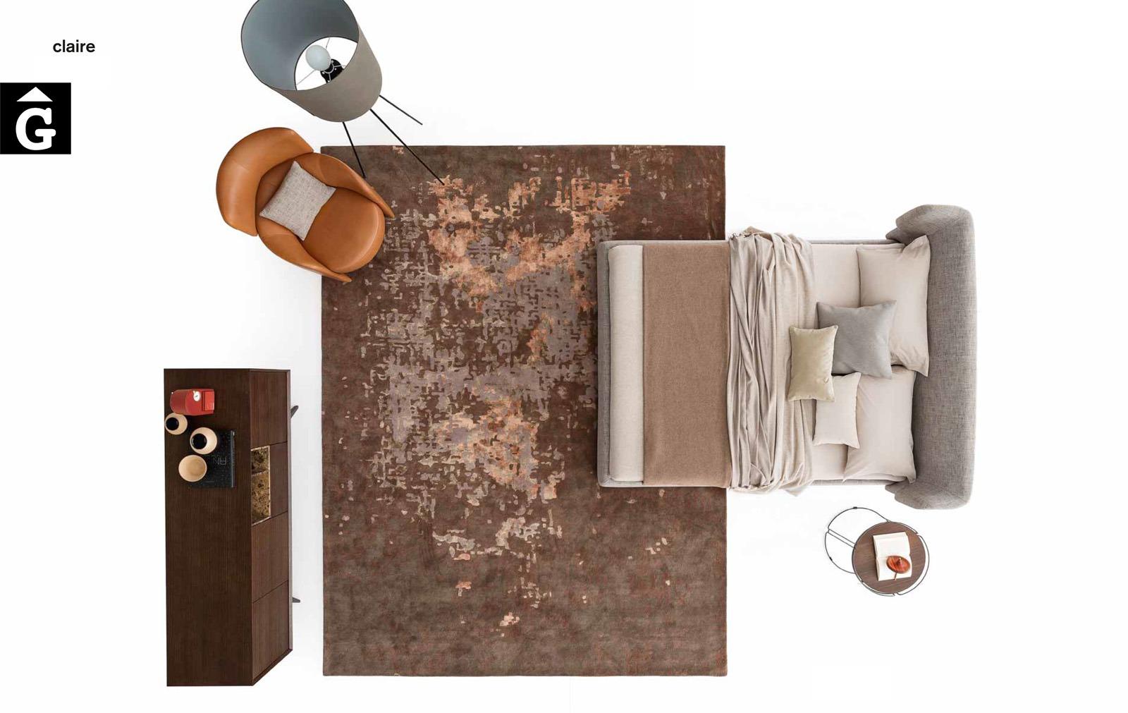 Claire llit entapissat planta - Ditre Italia llits entapissats disseny i qualitat alta by mobles Gifreu