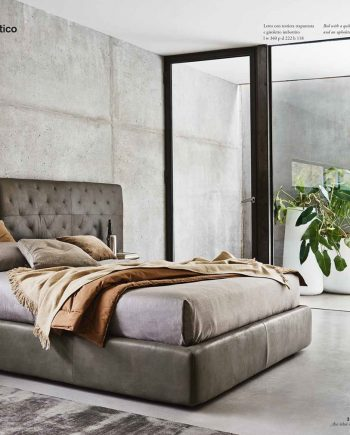 Ecléctico llit entapissat pell gran - Ditre Italia llits entapissats disseny i qualitat alta by mobles Gifreu