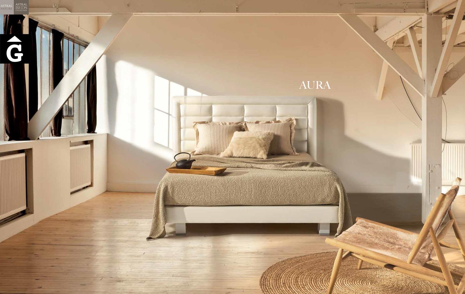 Aura llit entapissat Beds Astral Nature descans qualitat natural i salut junts per mobles Gifreu