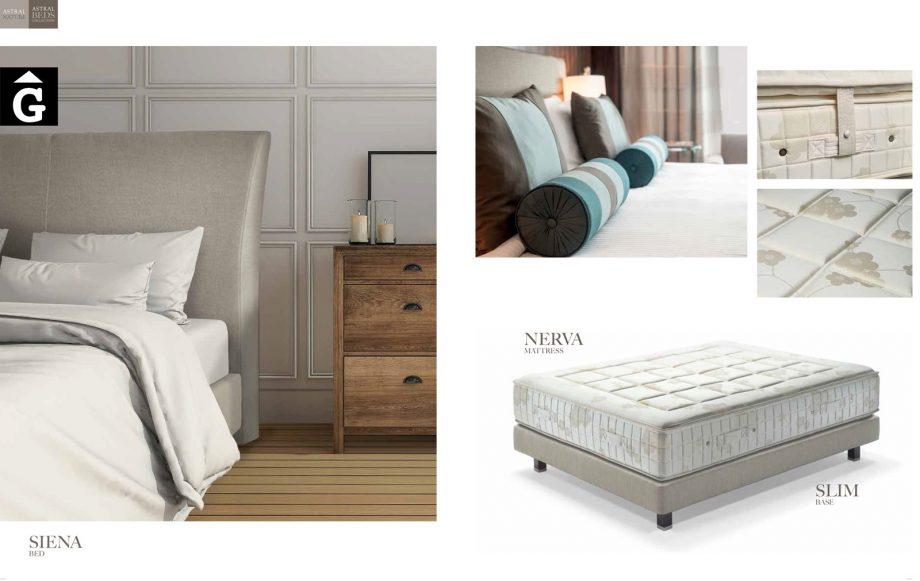 Siena llit entapissat detalls Beds Astral Nature descans qualitat natural i salut junts per mobles Gifreu