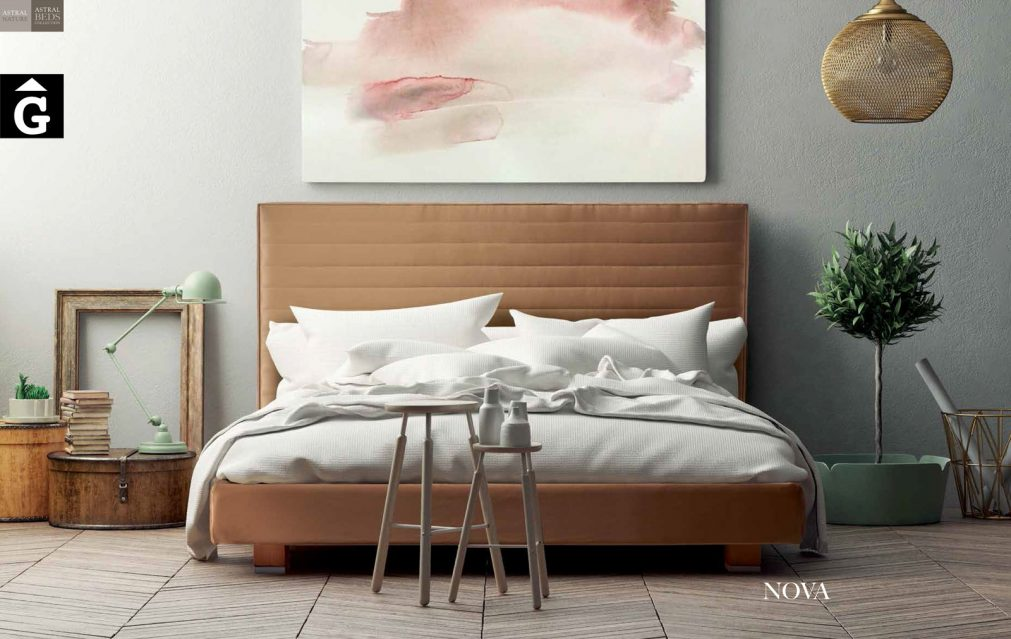 Nova llit entapissat Beds Astral Nature descans qualitat natural i salut junts per mobles Gifreu