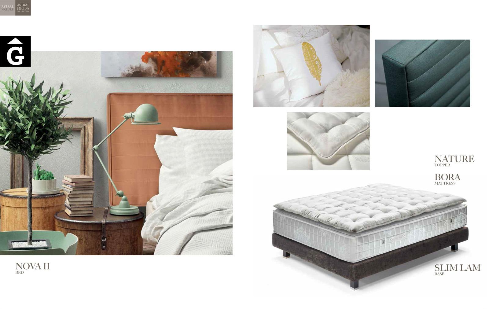 Nova II llit entapissat Beds Astral Nature descans qualitat natural i salut junts per mobles Gifreu