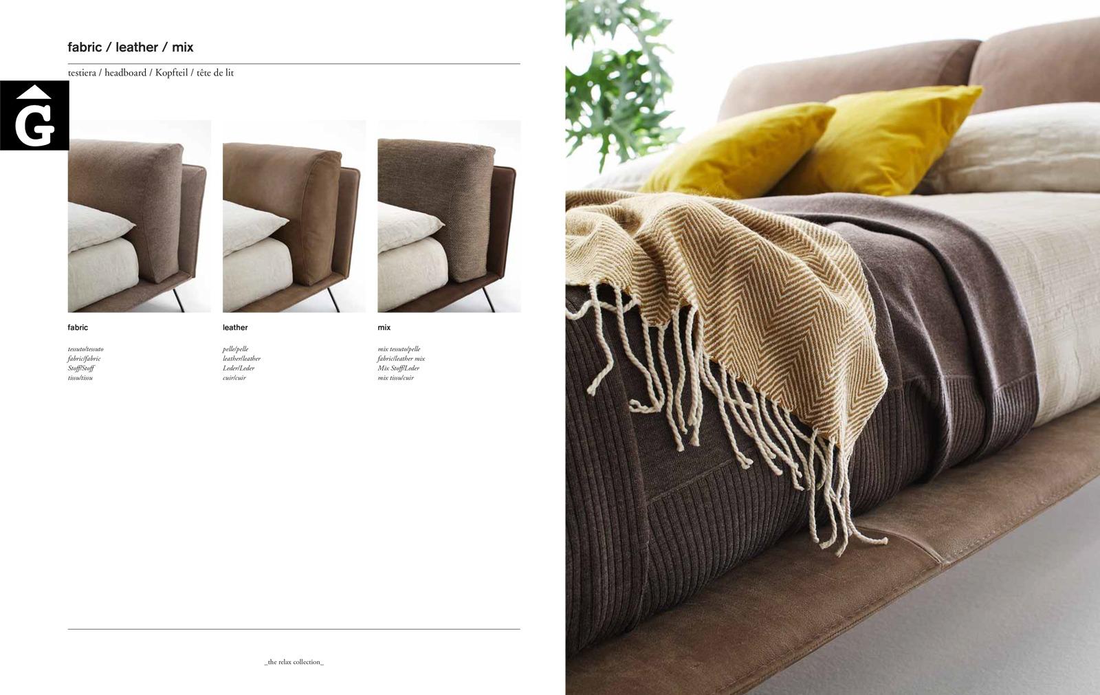 Kanaha detalls acabat llit entapissat - Ditre Italia llits entapissats disseny i qualitat alta by mobles Gifreu