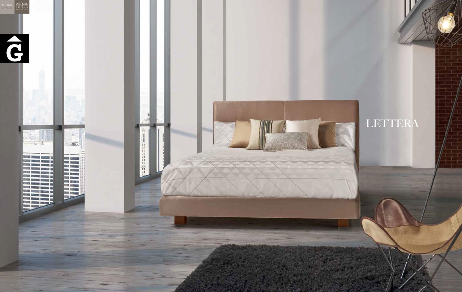 Lettera llit entapissat Beds Astral Nature descans qualitat natural i salut junts per mobles Gifreu
