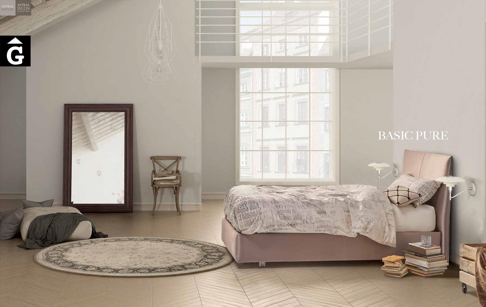 Basic Pure llit entapissat Beds Astral Nature descans qualitat natural i salut junts per mobles Gifreu