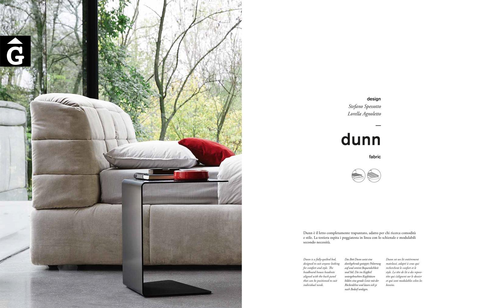 Dunn llit gran entapissat Titol - Ditre Italia llits entapissats disseny i qualitat alta by mobles Gifreu