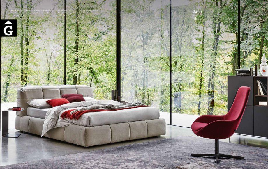 Dunn Llit entapissat gran - Ditre Italia llits entapissats disseny i qualitat alta by mobles Gifreu