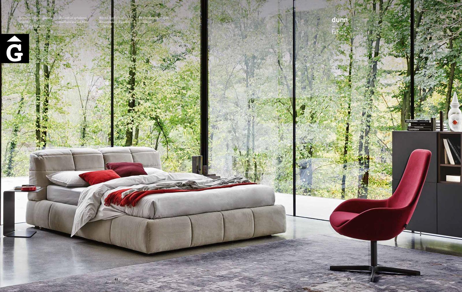 Dunn Llit entapissat gran – Ditre Italia llits entapissats disseny i qualitat alta by mobles Gifreu
