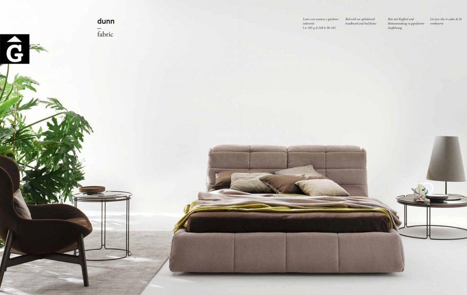 Dunn Llit entapissat gran fons blanc - Ditre Italia llits entapissats disseny i qualitat alta by mobles Gifreu