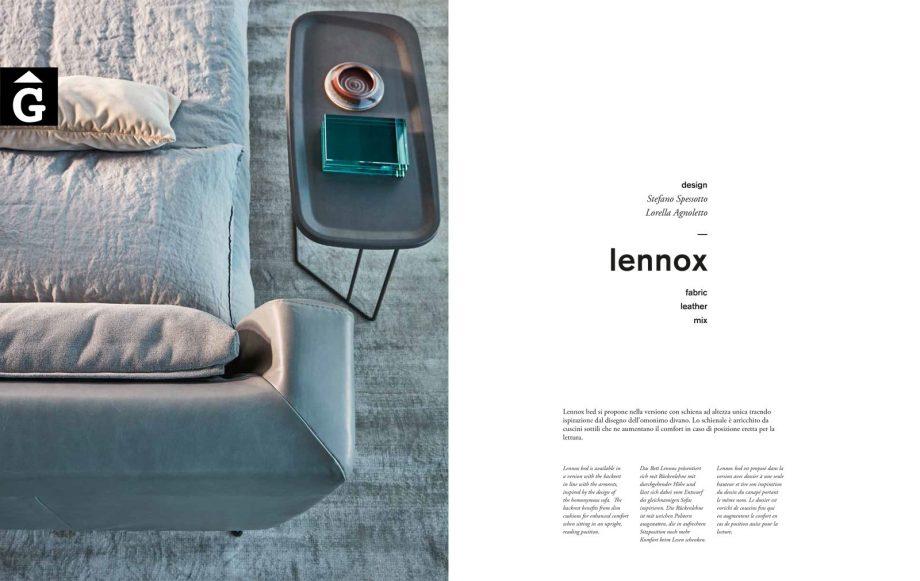 6 Lennox llit - Ditre Italia llits entapissats disseny i qualitat alta by mobles Gifreu