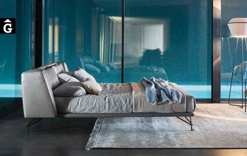 Lennox llit entapissat pell - Ditre Italia llits entapissats disseny i qualitat alta by mobles Gifreu