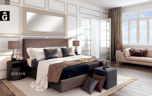 Zoco II llit entapissat Beds Astral Nature descans qualitat natural i salut junts per mobles Gifreu