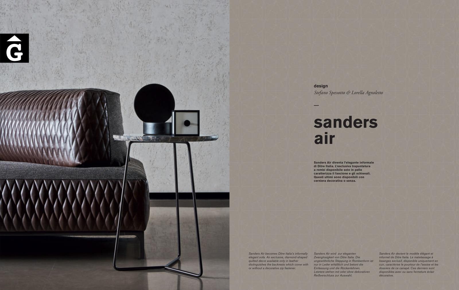 Sanders Air sofa detall - Ditre Italia Sofas disseny i qualitat alta by mobles Gifreu