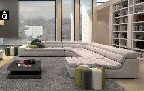 Sofà Kobe Gran Sofà Moradillo by mobles Gifreu tapisseria de qualitat sofas relax llits puff pouf chaixelongues butaques sillons
