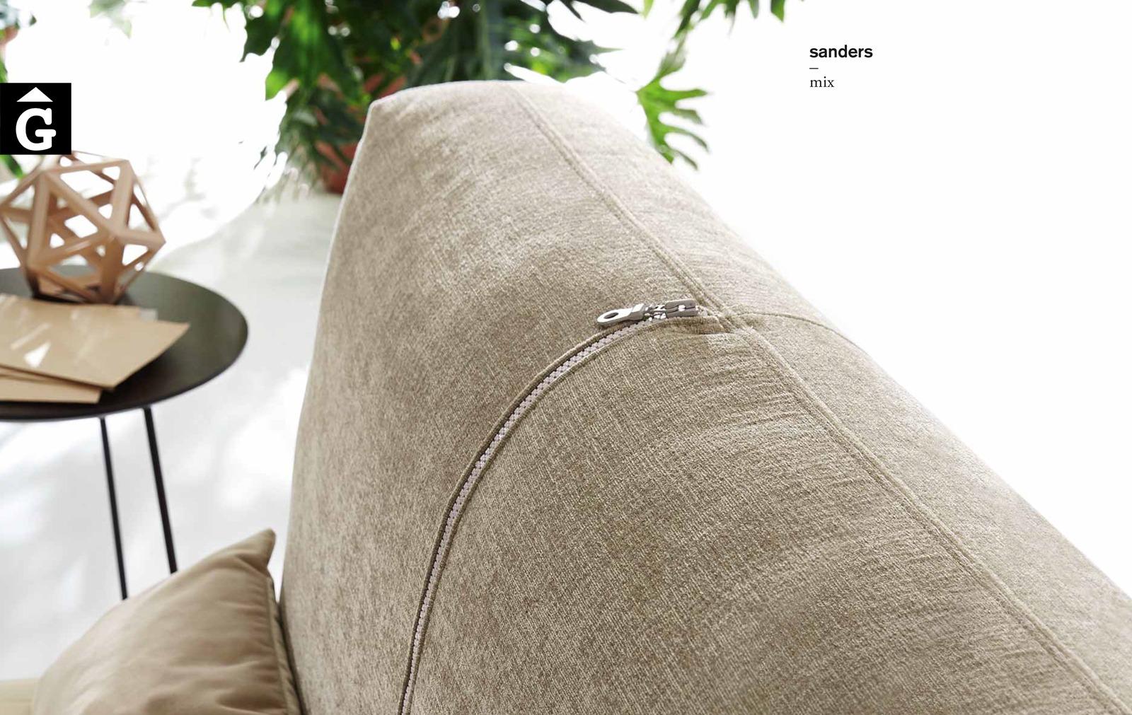Sanders llit entapissat detall capçal imatge - Ditre Italia llits entapissats disseny i qualitat alta by mobles Gifreu