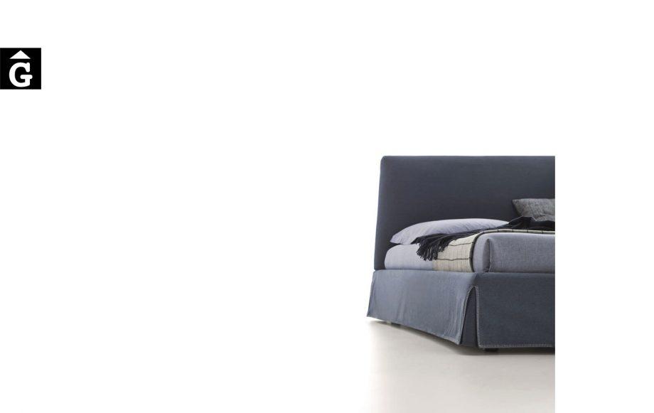 Llit Adel costura aro detall - Ditre Italia llits entapissats disseny i qualitat alta by mobles Gifreu