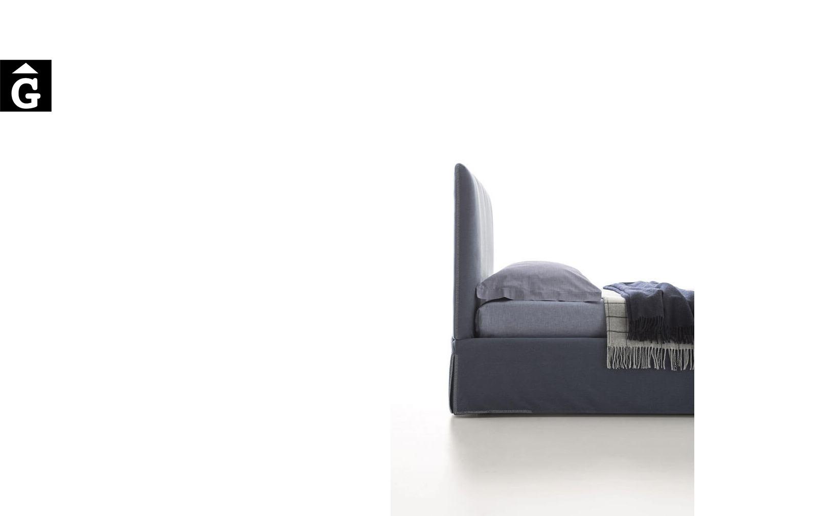 Llit Adele costura - Ditre Italia llits entapissats disseny i qualitat alta by mobles Gifreu