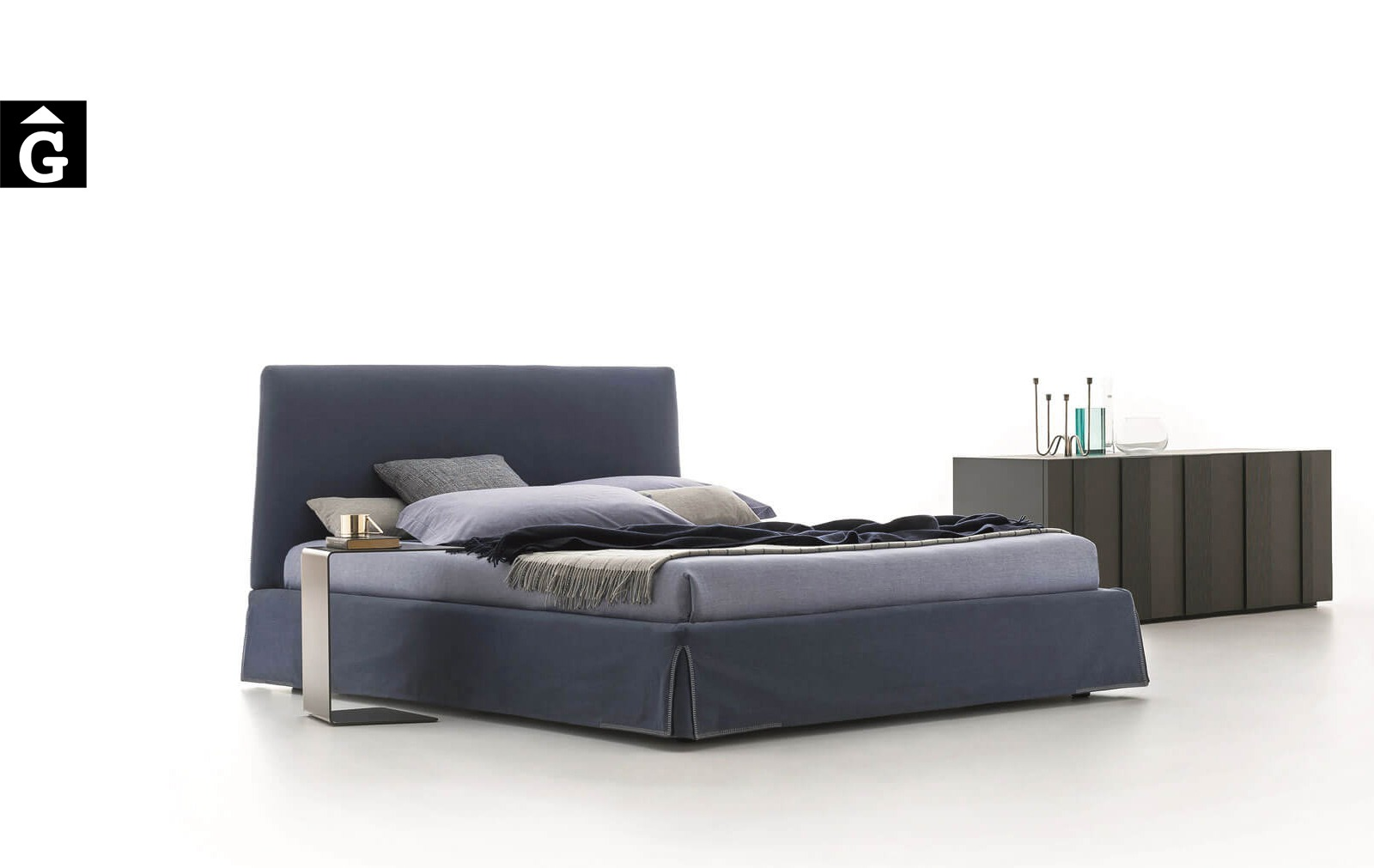 Llit entapissat Adel – Ditre Italia llits entapissats disseny i qualitat alta by mobles Gifreu