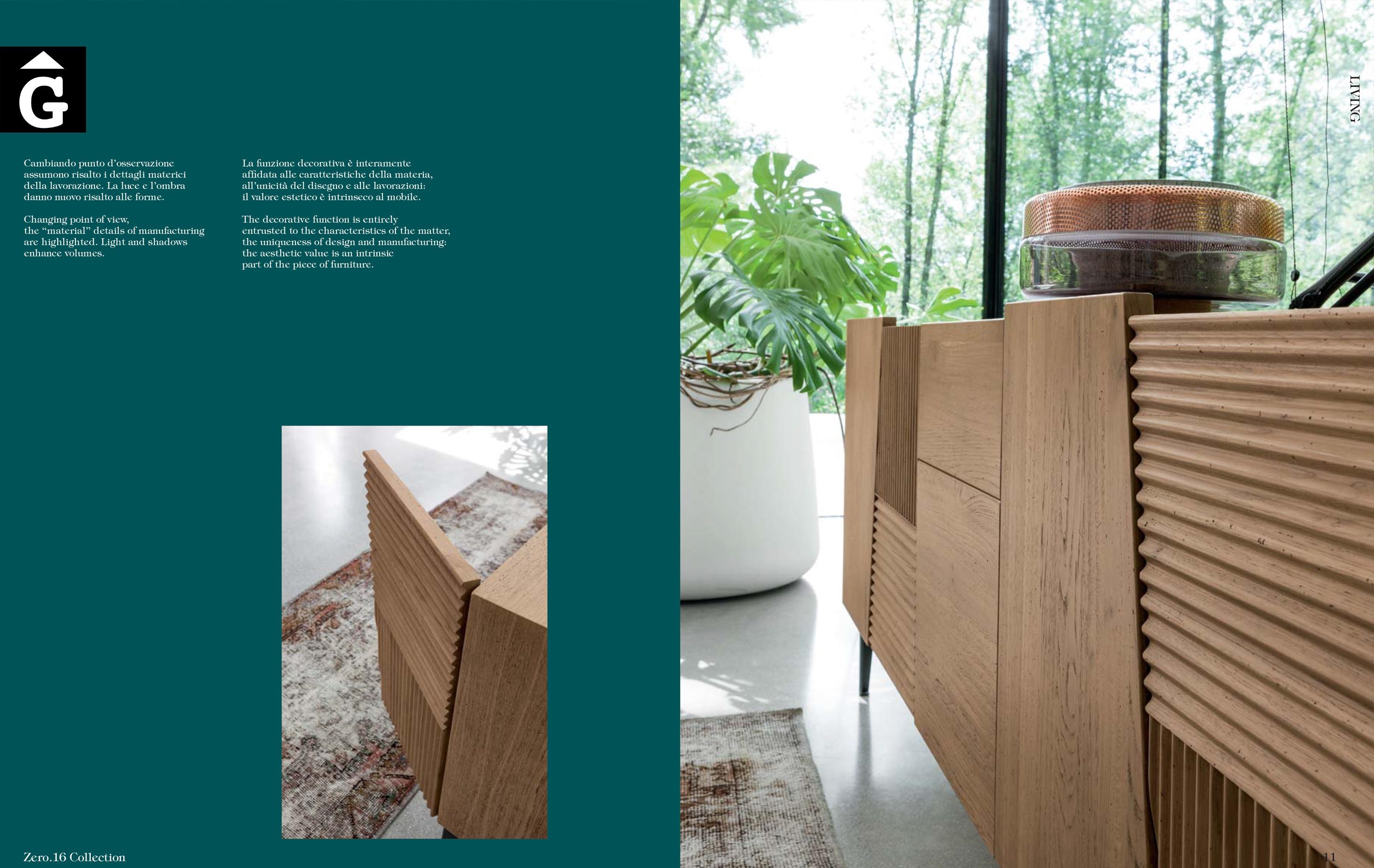 Imatge detall moble bufet massis roure Zero 16 by mobles Gifreu