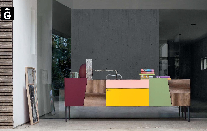 Moble massis roure Color Zero16 Imatge moble bufet atravit i actual by mobles Gifreu