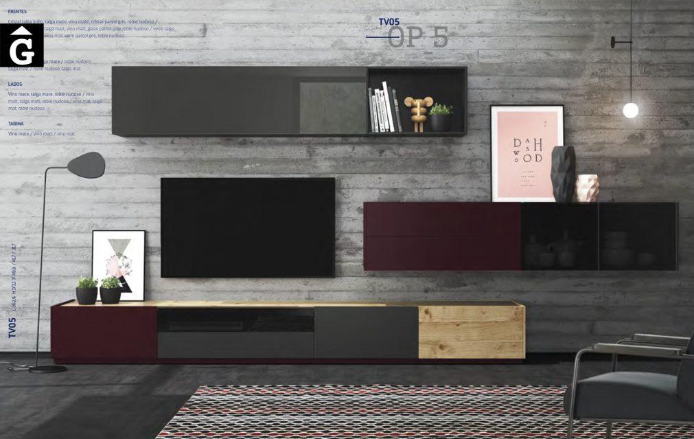 On Plus ViVe moble Tv apaïsat xapa roure nuos i laca muebles Verge programa mobles menjador rebedor living by mobles Gifreu