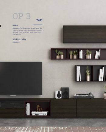 On Plus moble Tv roure fumé ViVe muebles Verge programa mobles menjador rebedor living by mobles Gifreu
