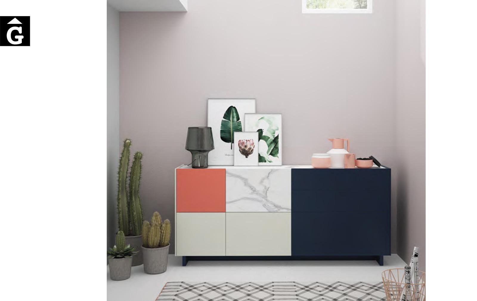 On Plus moble bufet aparador lacat mate ViVe muebles Verge programa mobles menjador rebedor living by mobles Gifreu