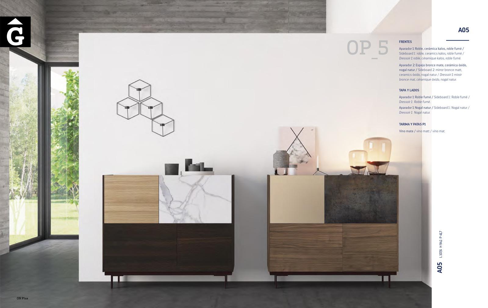 On Plus mobles bufet alt Aparadors Twins ViVe muebles Verge programa mobles menjador rebedor living by mobles Gifreu