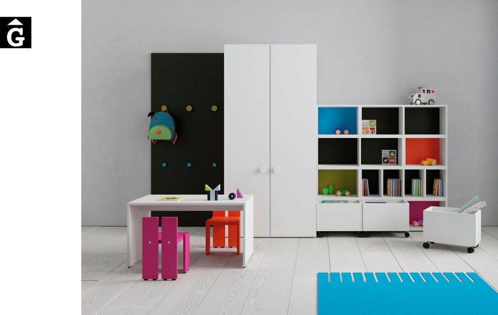 Taula rectangular i cadires infantils Pukka