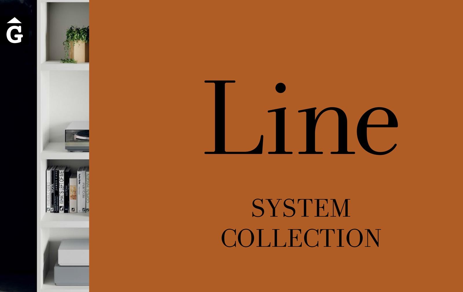 Line ViVe logo muebles Verge programa llibrera llibreries living by mobles Gifreu
