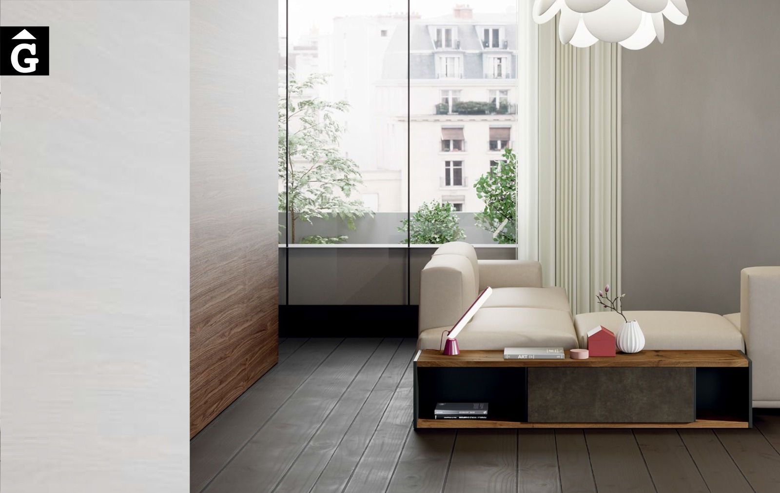 Line moble sofà ViVe muebles Verge programa llibrera llibreries living by mobles Gifreu