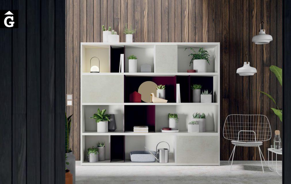 Moble llibreria blanc Line ViVe muebles Verge programa llibrera llibreries living by mobles Gifreu